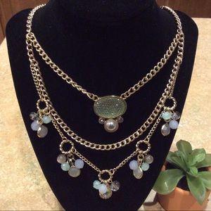 Jewelry - FASHION TRIPLE LAYER GOLDTONE NECKLACE